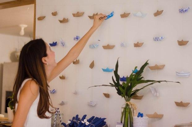 Cortina de Barcos de Papel de Origami La gallina y los pollitos blog